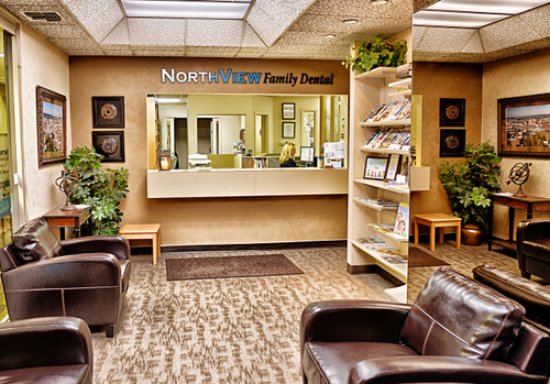 The North View Dental waiting area.